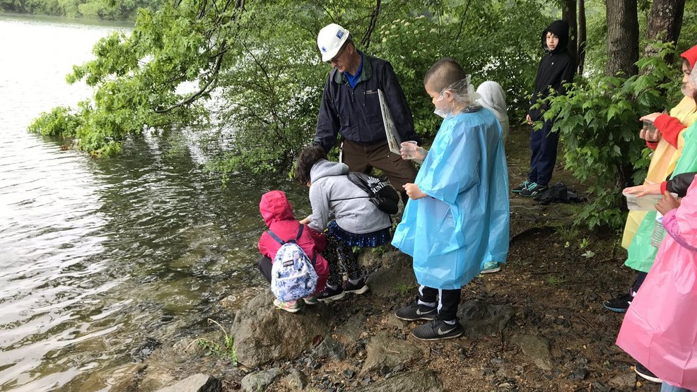 Students release fish into Laurel drinking water source