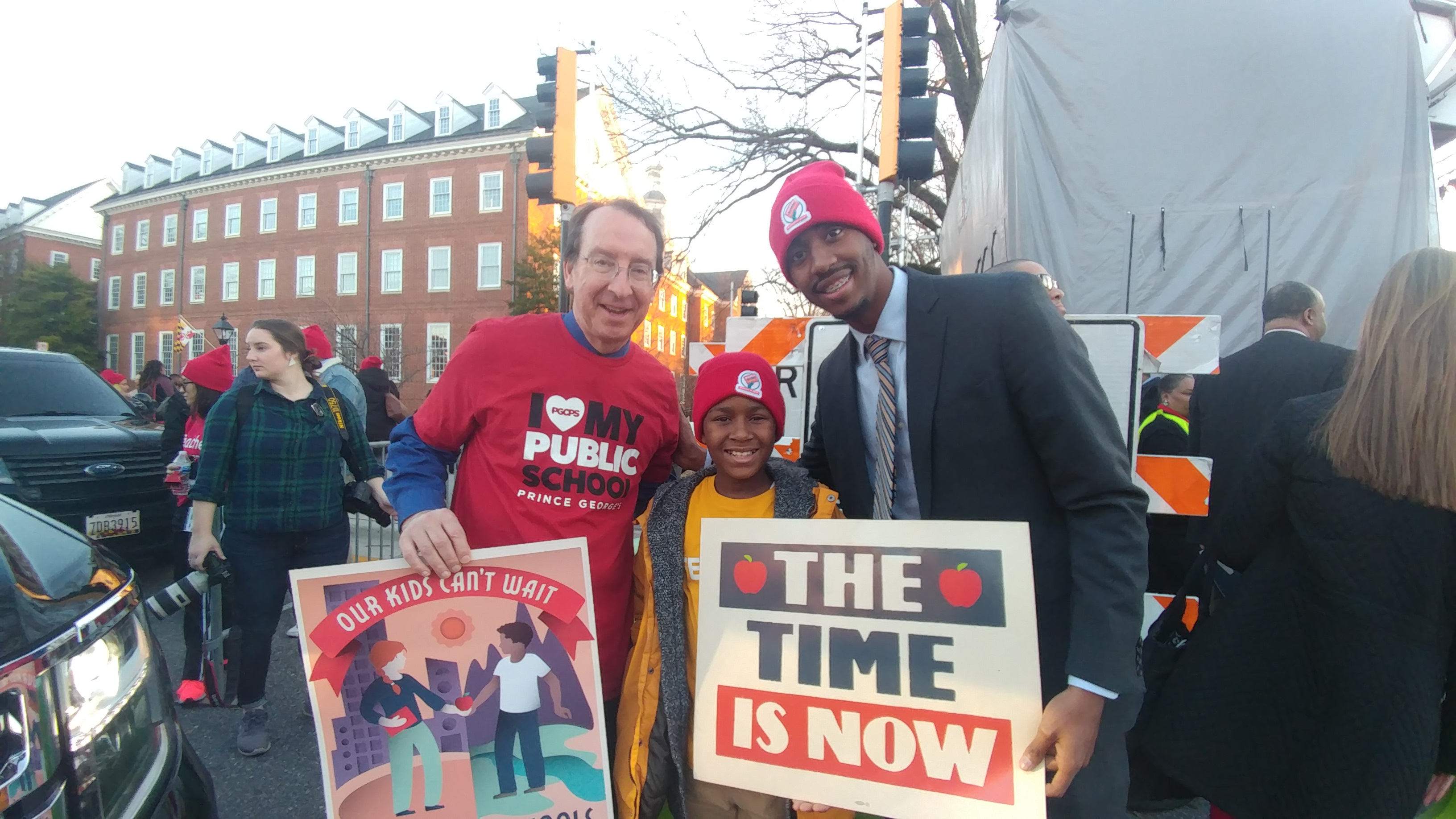 Benjamin Tasket student joins state lawmaker and school board vice chair at March for Our Schools rally in Annapolis, MD