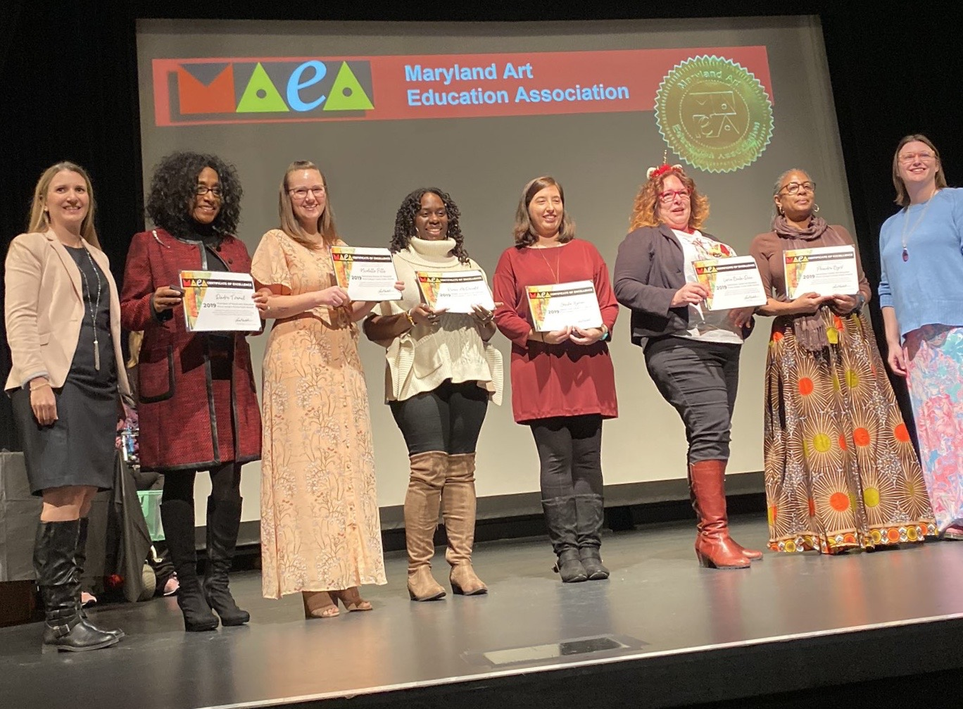 arts education award recipients 2019