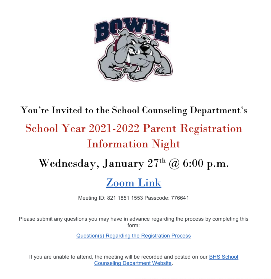 counselor registration parent night 2021