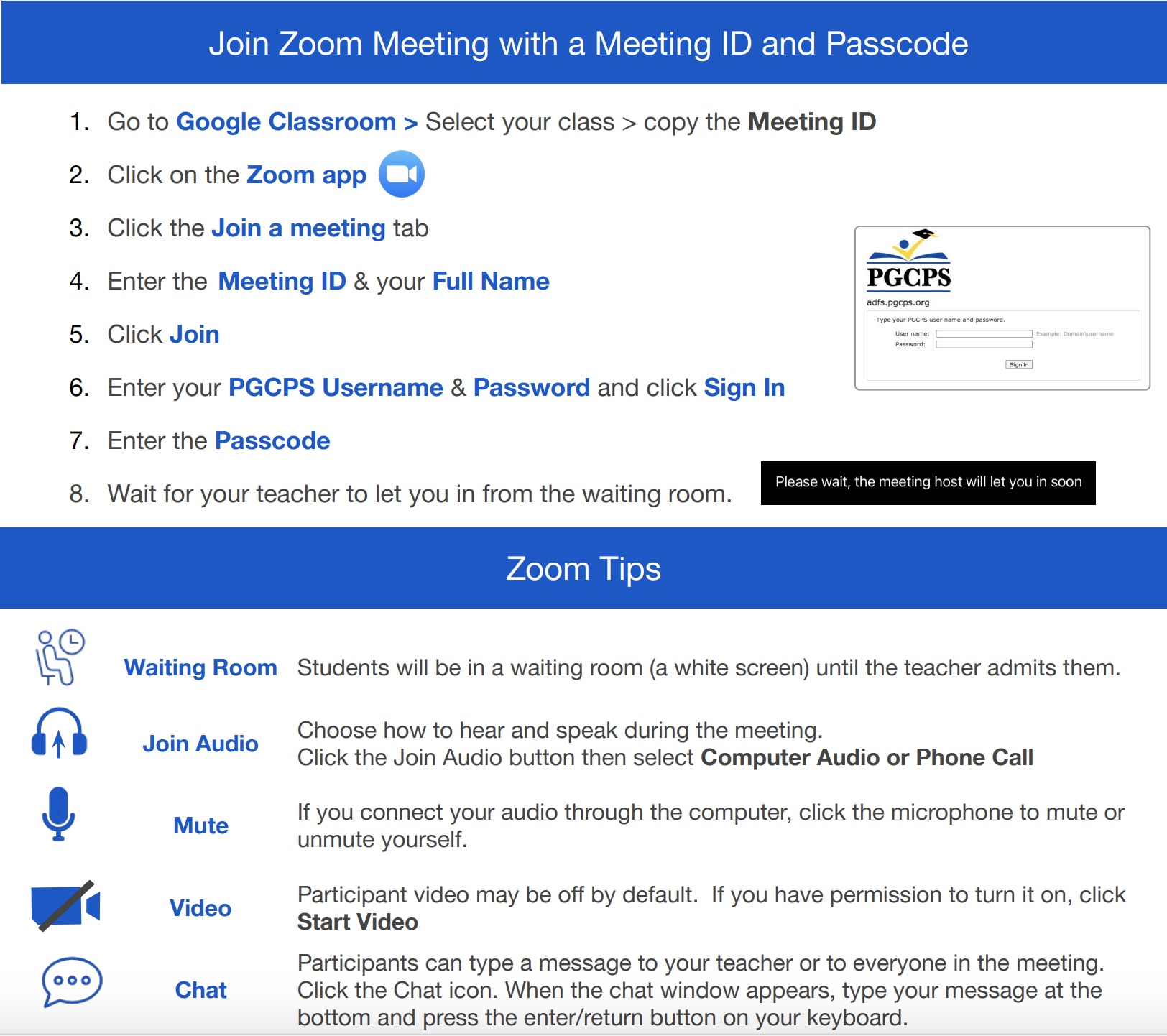 Updated PGCPS Zoom Guide For Students and Families 2