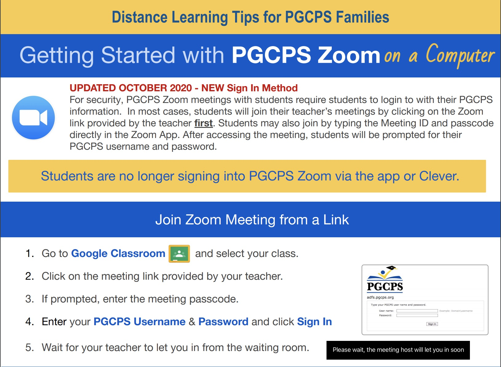 Updated PGCPS Zoom Guide For Students and Families 1